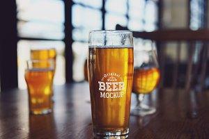 Beer Glass Mock-up#62