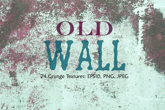 Old Wall Grungy Vector Textures