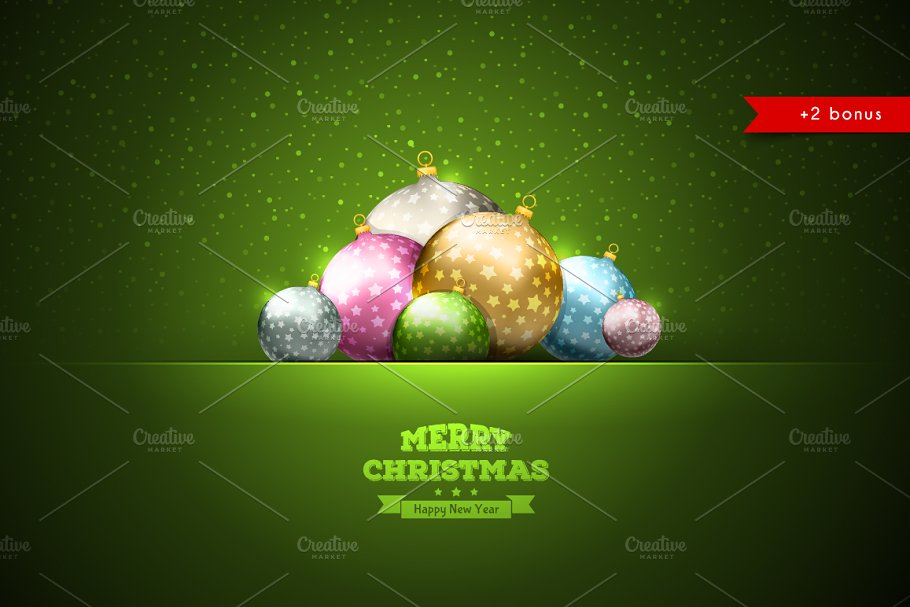 Xmas balls in Flyer Templates - product preview 8