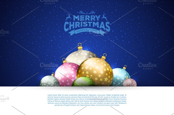 Xmas balls in Flyer Templates - product preview 1