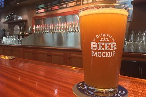 Beer Glass Mock-up#64