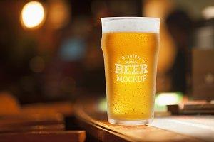 Beer Glass Mock-up#65