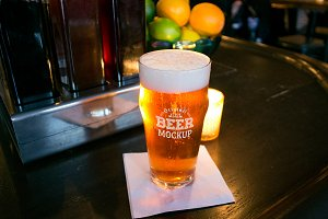 Beer Glass Mock-up#66