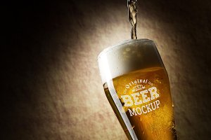 Beer Glass Mock-up#68