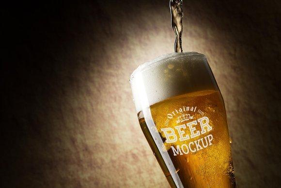 Beer Glass Mock-up#68
