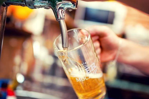 Beer Glass Mock-up#69