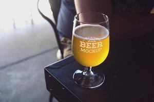 Beer Glass Mock-up#70