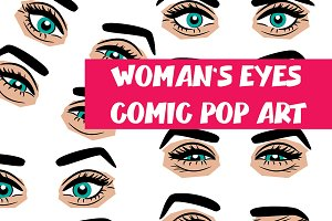 Smoky woman eyes comic book pop art