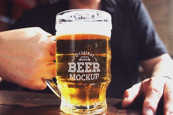 Beer Glass Mock-up#71