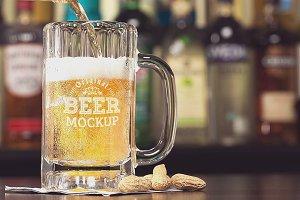 Beer Glass Mock-up#72