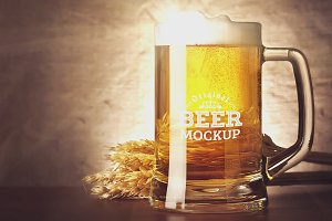 Beer Glass Mock-up#73