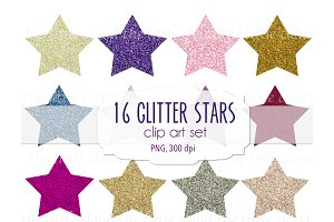 Glitter start clip art