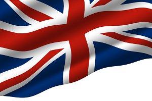England flag on white background