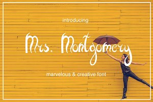 Mrs. Montgomery Brush Font