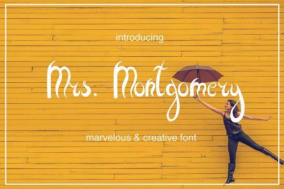 Mrs Montgomery Brush Font