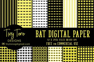 Bat digital paper pack