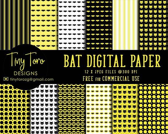 Bat Digital Paper Pack