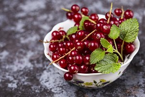 Red ripe currants