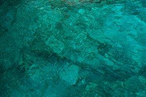 Beautiful azure water