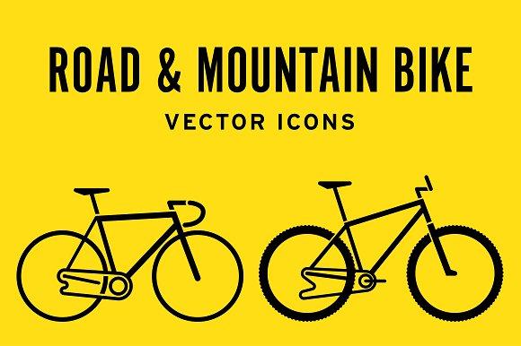 Road Mountain Bike Icons