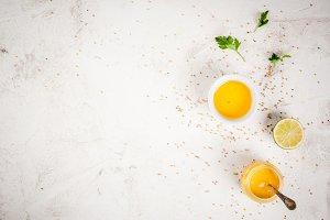 Ingredients for salad dressing