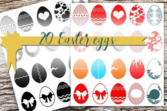 20 Vector Easter Eggs