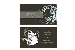 Business card with abstract elements