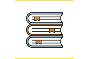 Books stack icon. Vector