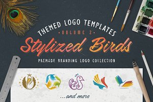 Logo Bundle Vol.2 - Stylized Birds
