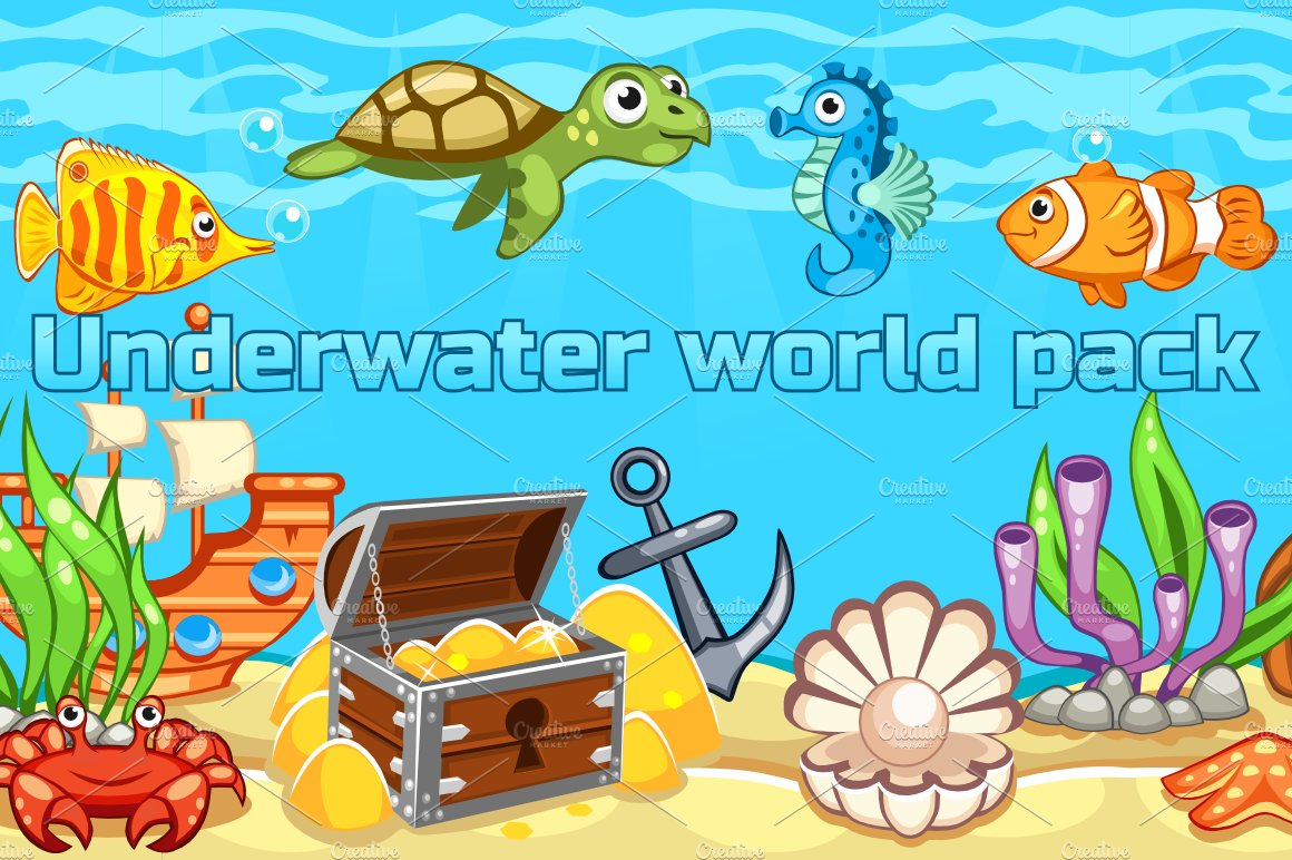 Underwater World. Child Drawing. Stock Image - Image: 33037121  Underwater World Drawings