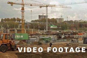 Shopping center construction. Time-lapse shot