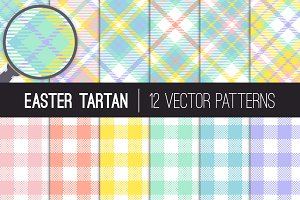 Vector Easter Tartan Plaid Patterns