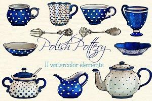 Polka Dot Coffee Service clip arts