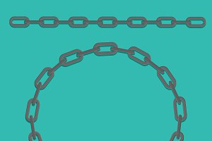 Chain frame. Vector icon