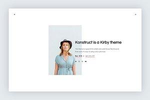 Konstruct Theme - Kirby CMS