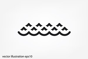 sea waves icon