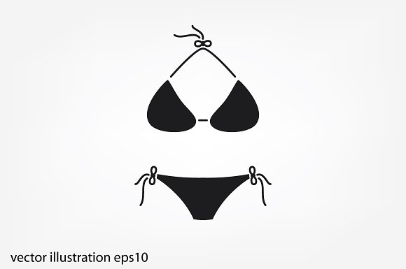 Woman Swimsuit Icon