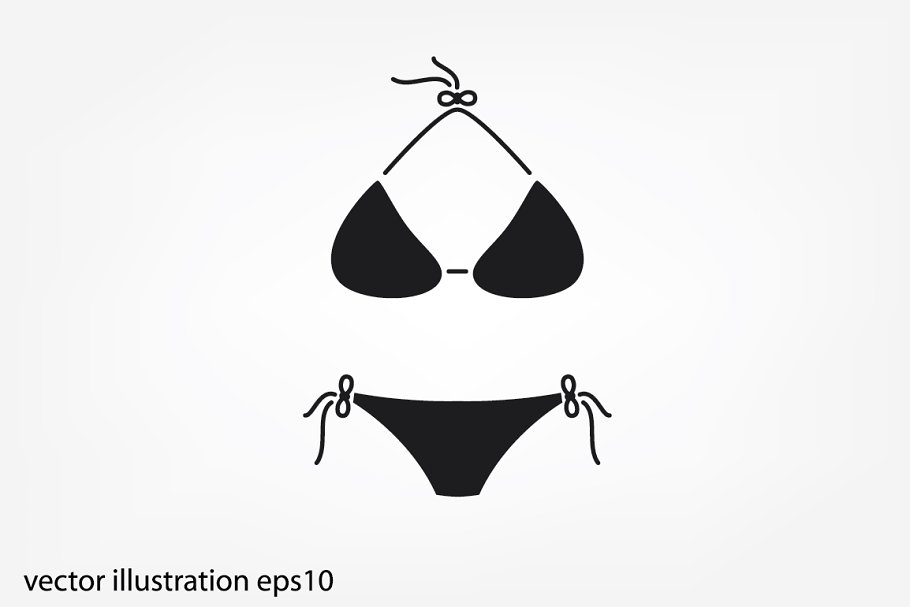 1e42d71bdd woman swimsuit icon ~ Icons ~ Creative Market