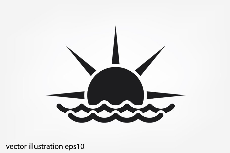 sun and wave icon