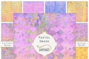 Pastel Diamond Watercolor Texture Se