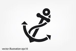ship's anchor icon
