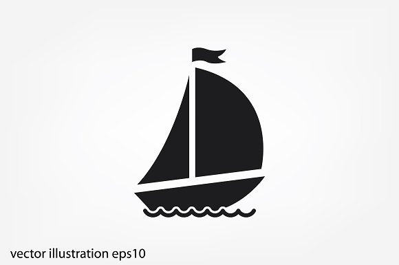 Ship With Sails Icon