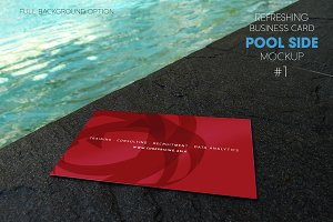Refreshing Business Card Pool Side