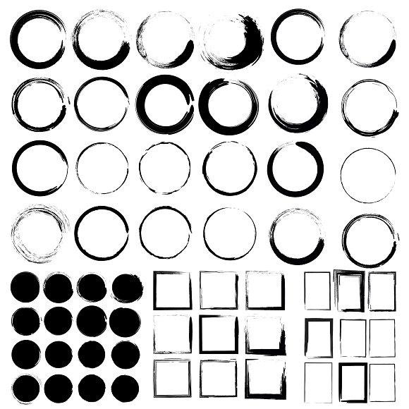 Vector Set Of Grunge Circle