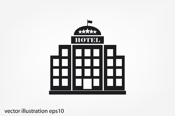 Hotel 5 Star Icon Icons Creative Market