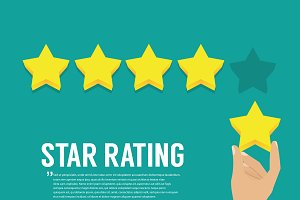 Rating stars. Flat design