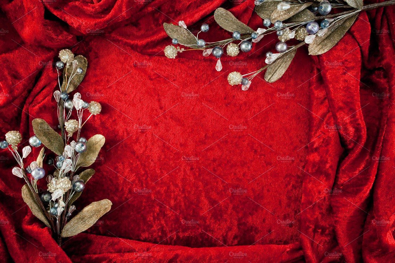 Crushed Velvet Holiday Background Photos Creative Market