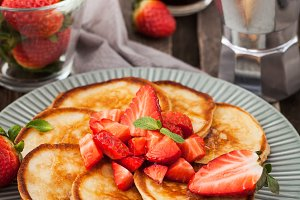 Homemade delicious pancakes