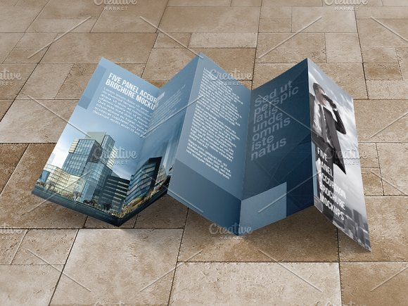 8 5x14 five panel accordion mockups product mockups creative market