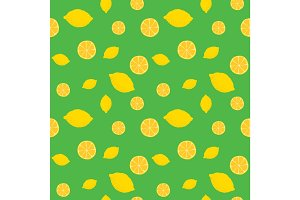 Fruits lemon seamless patterns vector